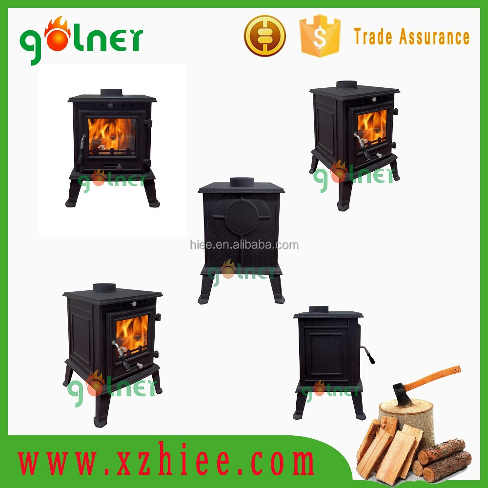 2016 new design cast aluminum wood burning stove, metal wood burning fireplace, camping wood stove