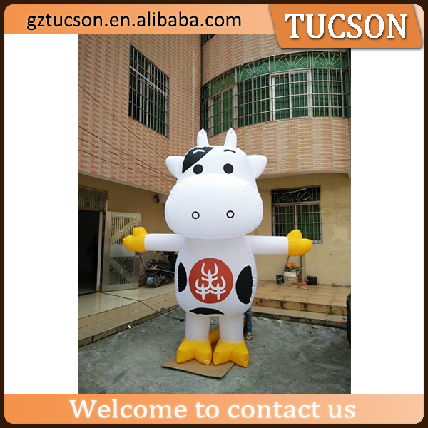 commercial advertising fixing inflatable milk cow cartoon for sale