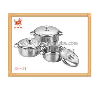 parity product single bottom steel handle cookware sets kitchen with top quality