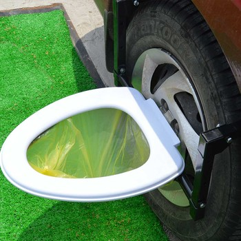 portable tire toilet travel outdoor camping toilet tiolet tire step view wild country folding