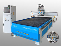 3 head pneumatic tool changer cnc wood carving machine for sale