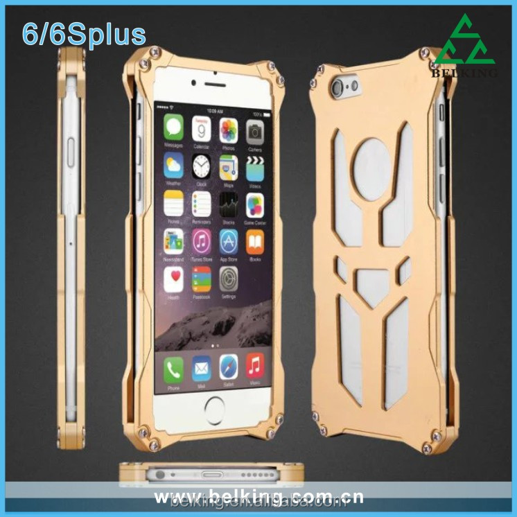 Shockproof Metal Aluminum Armor Hard Case For Iphone 6 4.7 5.5