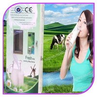 CE certified bill and coin acceptor automatic fresh milk atm milk vending machine