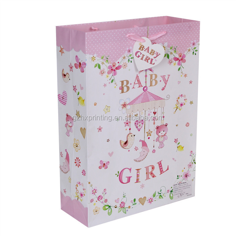 Guangzhou Manufacture Price Sweet Fashion&Beauty Paper Bags for Baby Girl