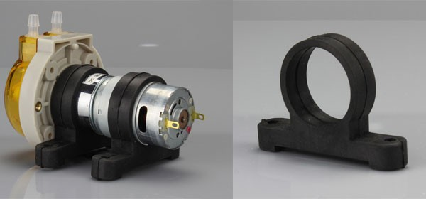 OEM peristaltic pump of wall 1.6 mm tubing quick install panel colorful type of flow rate 115ml/min