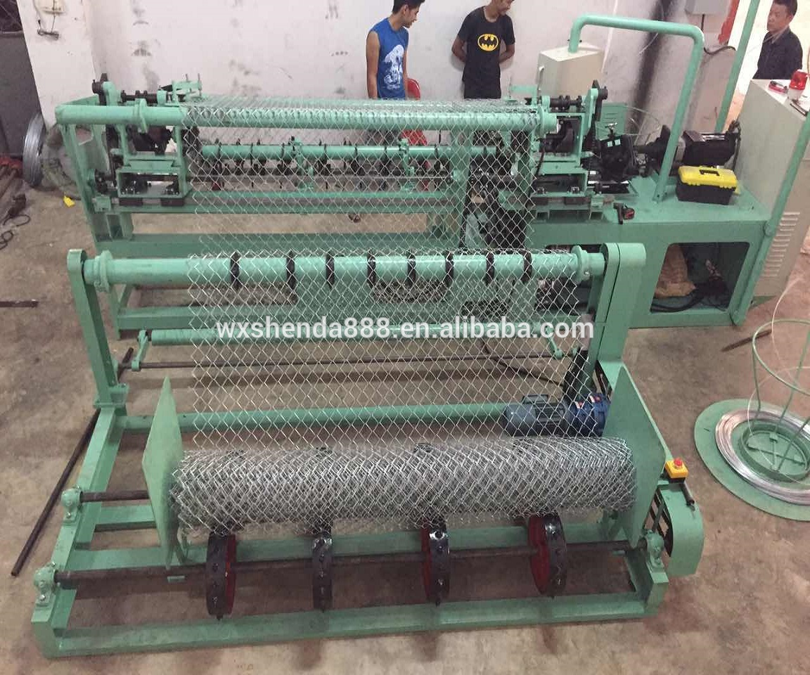 Factory Fully-automatic Chain Link Fence Making Machine Price/Wire Mesh Making Machine