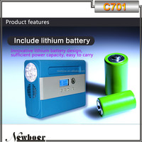 2015 new product Mini portable tire inflator with lithium battery
