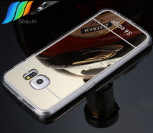 2015 TPU Clear Mirror cell phone case for samsung s6