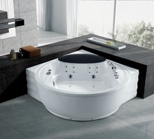 double whirlpool massage bathtub