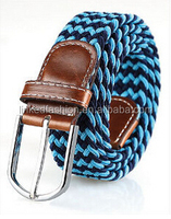High quality braided original genuine leather men belt