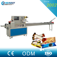 Headly full automatic chocolate biscuit opp plastic film pouch packing machine