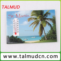 Wholesale delicate metal promotional fridge magnet thermometer