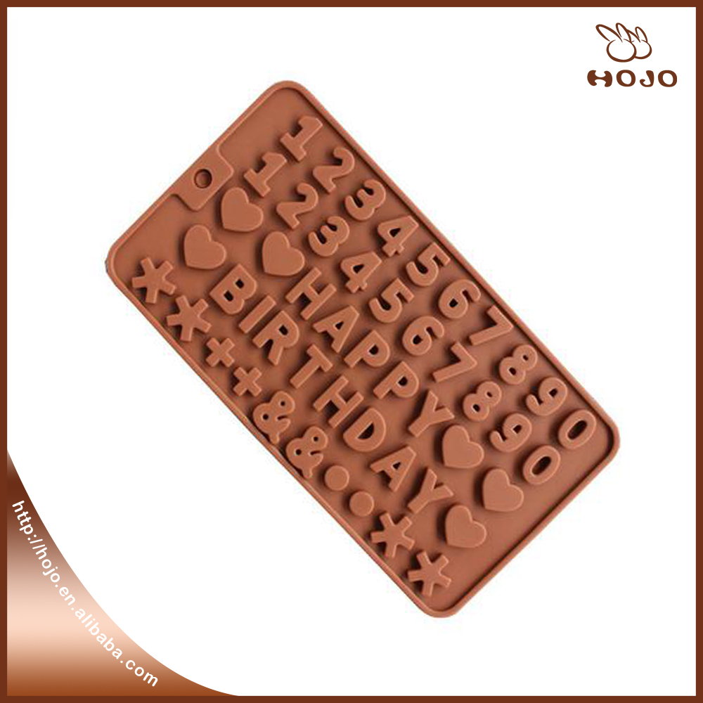 Alphabet Letter Chocolate Mold Cake Decoration Silicone Moulds Bakeware for wedding