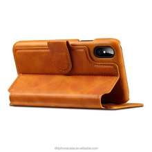 flip leather wallet cell phone case with credit card slot for iphone X 6 7 8 , for Samsung galaxy fame