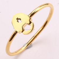 Four Color Lock Design Charming Bangle