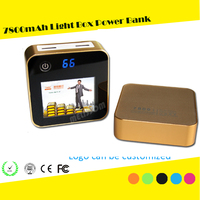Advertising Light Box power bank 7800mah,advertisement lamp box mobile power bank,lighted boxes portable power bank-