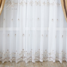 Low price of home textile fashionable pretty sheer curtain lace