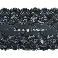 Jacquard And Textornic Nylon Spandex Lace Trim Frontal Pieces For Underwear