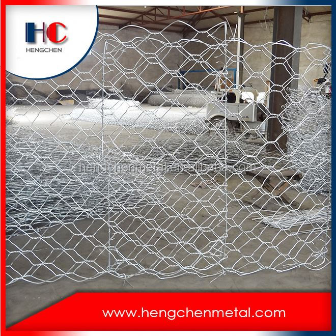 Hot dipped galvanized gabion boxe wire mesh,welded gabion box cage,hexagonal gabion box price