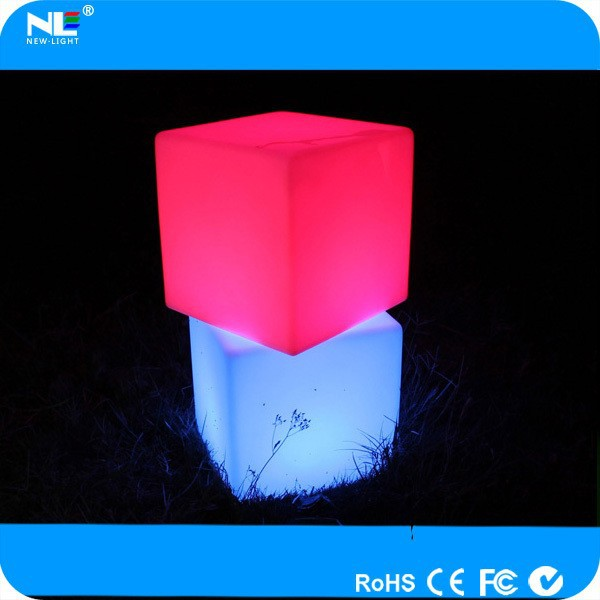 outdoor LED glowing cube furniture / color change LED light up cube
