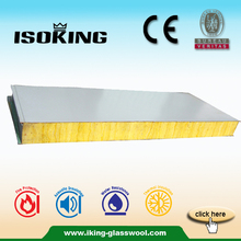 Prefab House Glass Wool Insulated Roof Aluminium Sandwich Panel