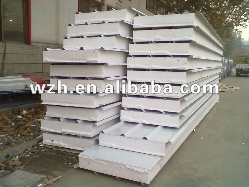 expandable polystyrene insulated eps metal sandwich roof panel