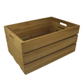 FSC&BSCI handmade rustic set of 3 cheap yellow wooden fruit storage crates