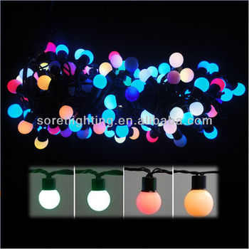 Beautiful RGB LED Christmas String Light With Round Plastic Ball Encloser
