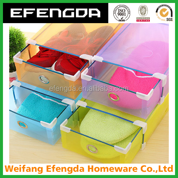 Wholesale trasparent clear plastic storage shoe box / Plastic PP shoe box