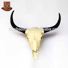 Custom made wholesales resin bull skull replica decorative bull heads