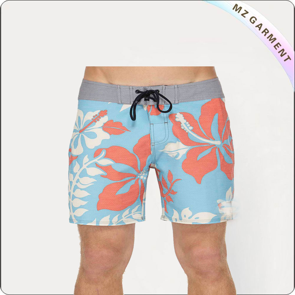 man fashion cow print shorts