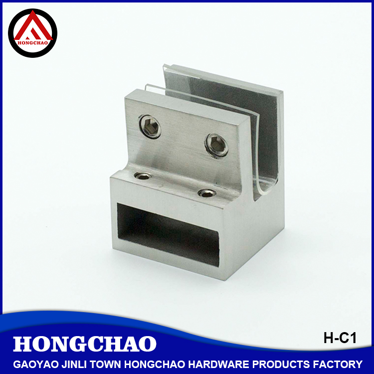 90 degree knighthead clamp, 304 stainless steel sliding door fitting