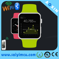 Bluetooth contact mobile phone,wrist watch blood pressure for IOS or Android