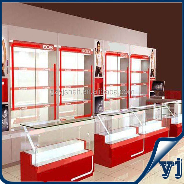Electronic product display cabinet/ shopping center display shelf