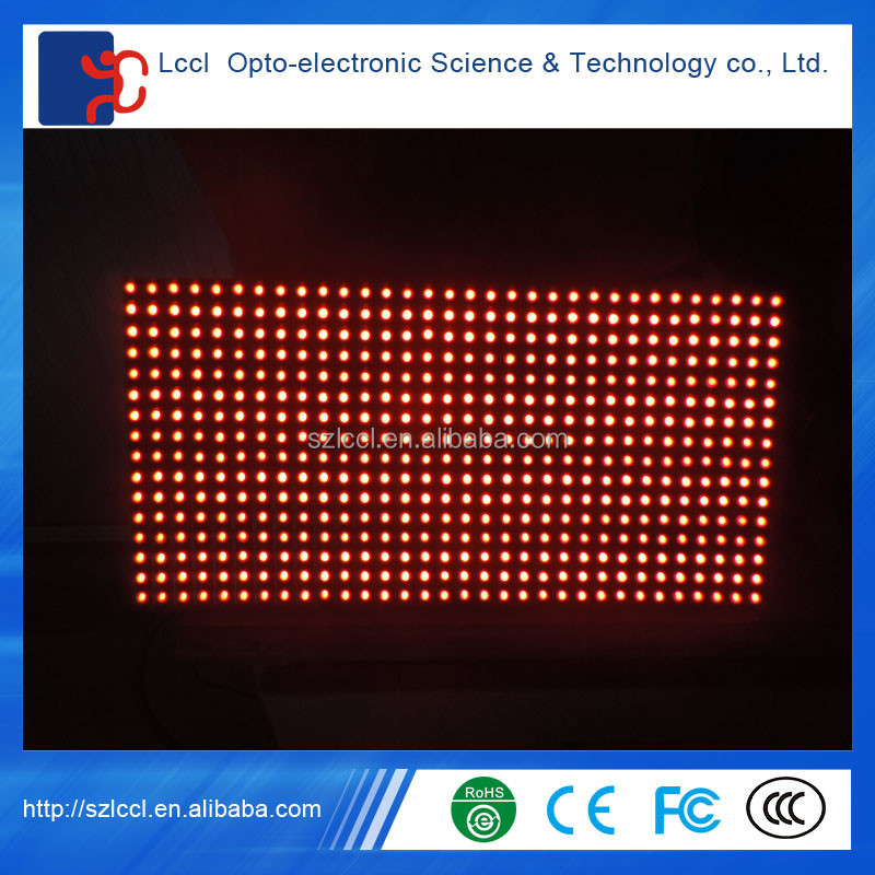 Hot Selling Single Color P10 Outdoor Bus Advertising LED Screen Panel