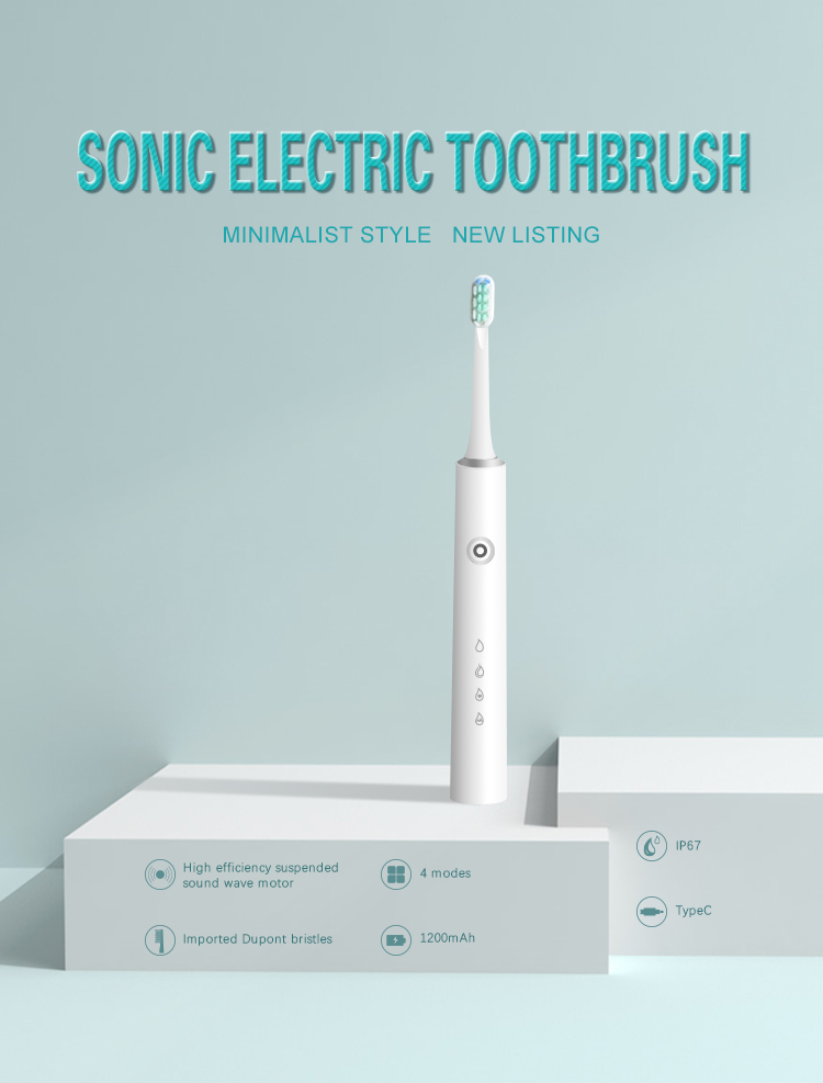 BMQ Electric Sonic Toothbrush Reach Toothbrush Rechargeable Use Time More 30 Days