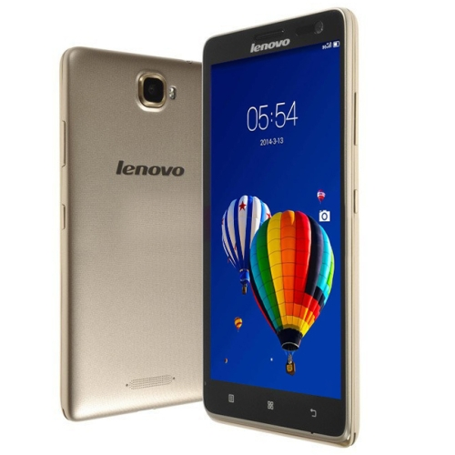 Lenovo S856 8GB, 5.5 inch 4G Android 4.4 Smart Phone, MSM8926 Quad Core 1.2GHz, RAM: 1GB, Dual SIM, FDD-LTE & WCDMA & GSM(Gold)