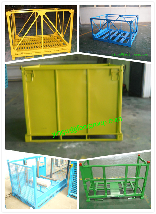 wire mesh container/mesh box wire cage metal bin storage container with best price