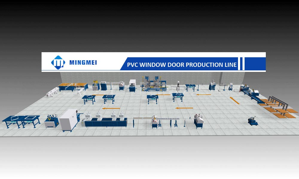 PVC WINDOW DOOR MAKING MACHINE UPVC WINDOW WELDING MACHINE