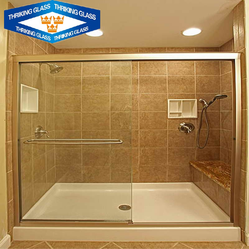 Thriking China factory premium low price 6mm 5mm 4mm flat safety tempered bathroom glass