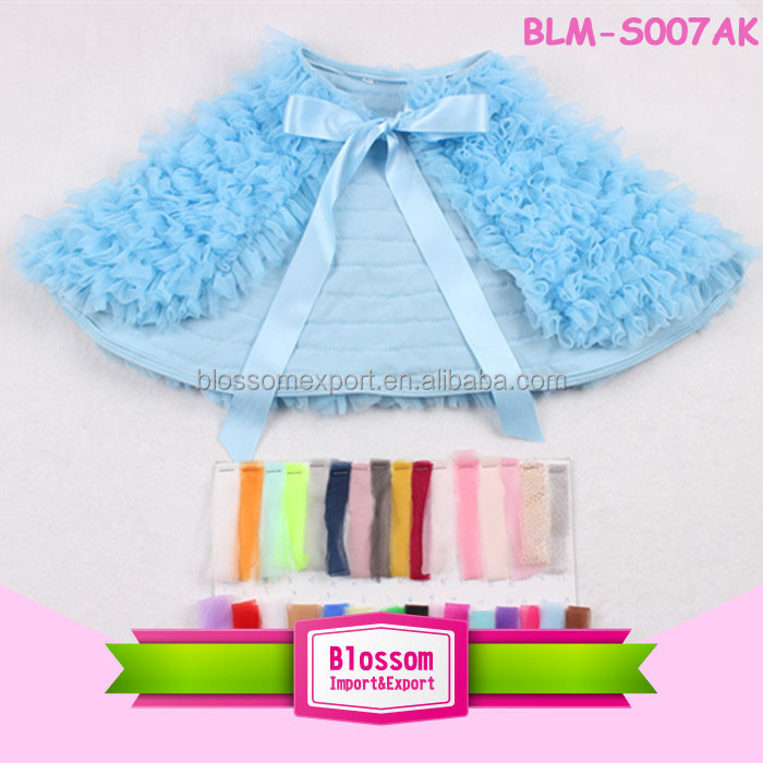 2015 hot sales Boutique fashion lime chiffon ruffle baby bath cape