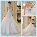 white lace beaded ball gown strapless diamonds wedding dress bridal