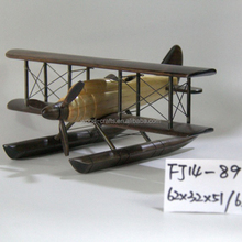 High Quality Art collection use home decorations airplane model wood carving vintage arts crafts