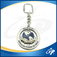 custom fashionable and promotional made metal keychain
