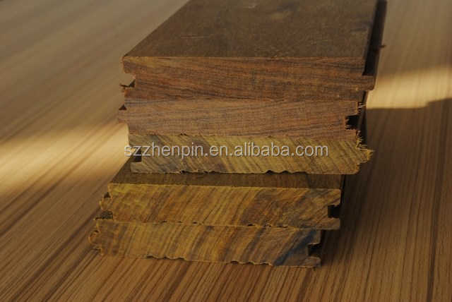 Unfinished Brazil solid ipe real wood flooring highest density wood in the wood