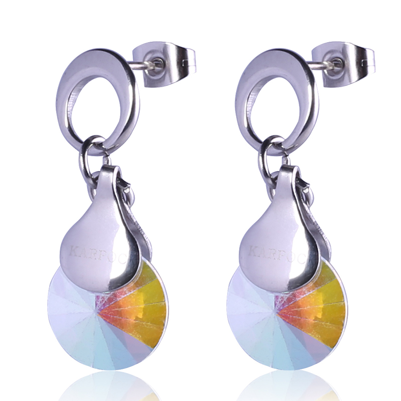 Water Drop Valentine's Gifts Simple Design Drop Earrings For Cute Girls