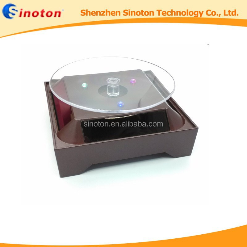 Factory Price Crystal Bracelet Turntable Solar Rotating light Base Rotating 360 Degree Solar Display