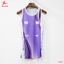 Healong Design Sublimation Netball Dress Wholesale Custom Women Netball Uniform