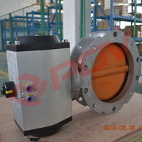 pneumatic powder butterfly valve with stainless steel