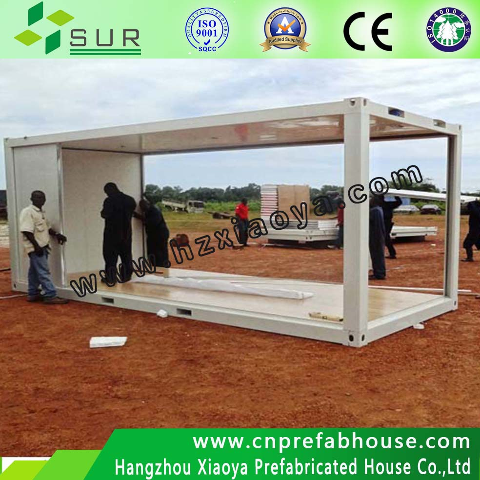 steel construction prefabricated wooden house Certificated by CE